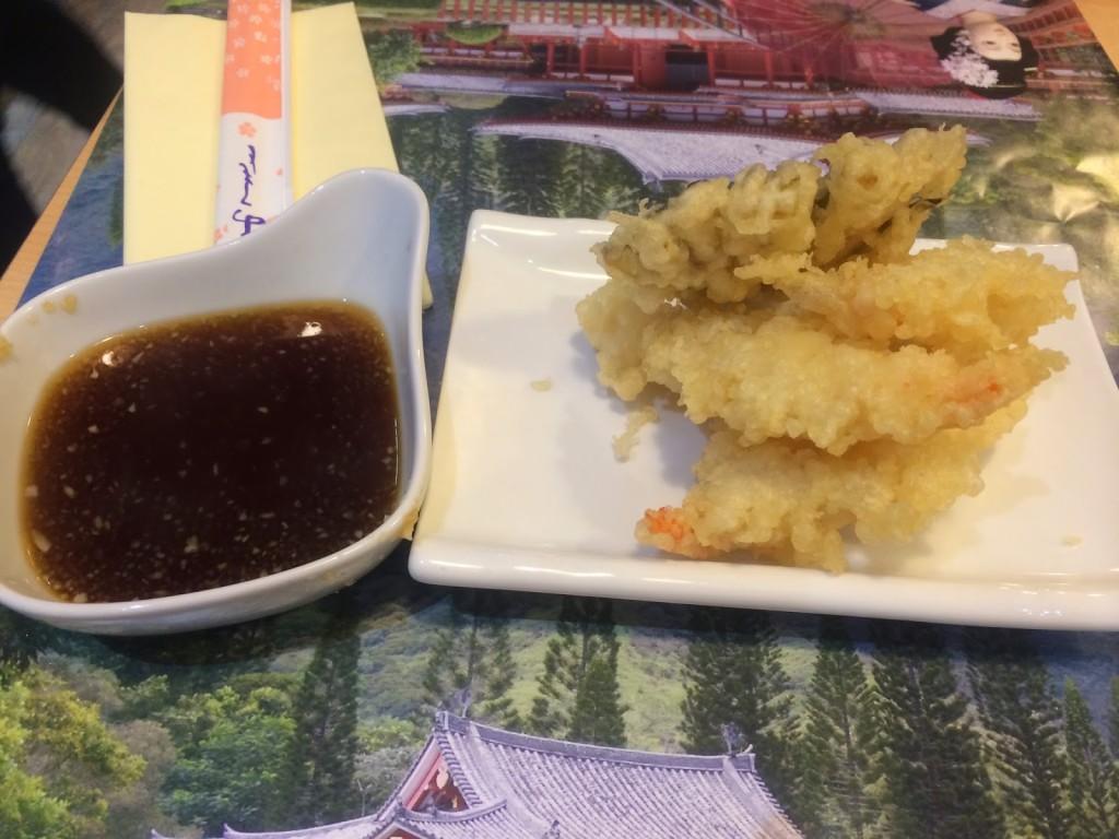 Tenkaichi's ebi tempura