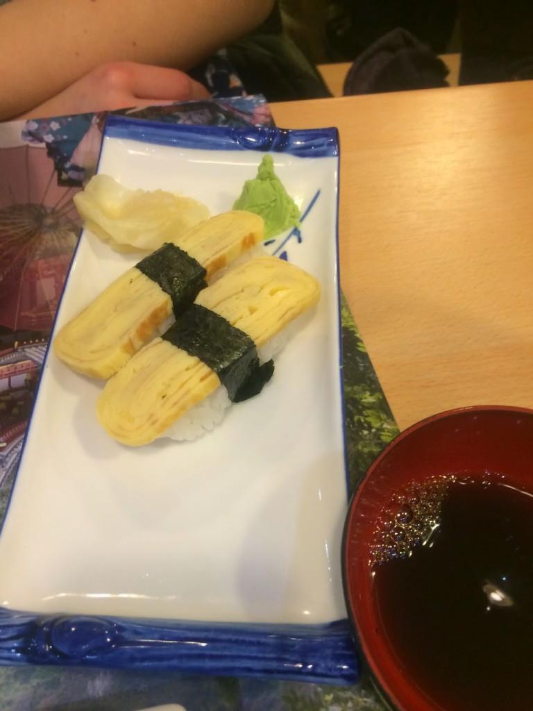 Tenkaichi's tamago nigiri
