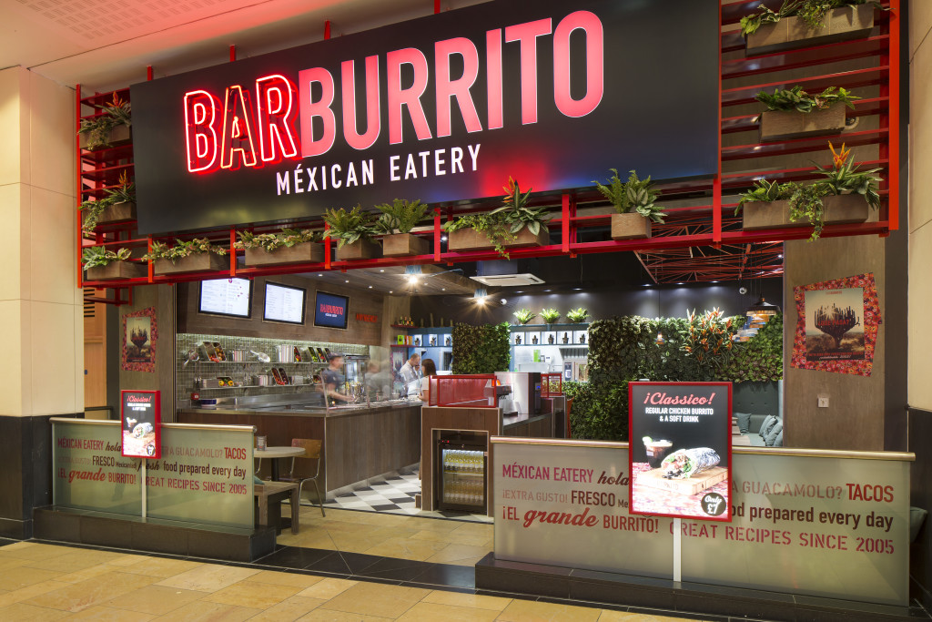 Entrance to Barburrito, Cardiff
