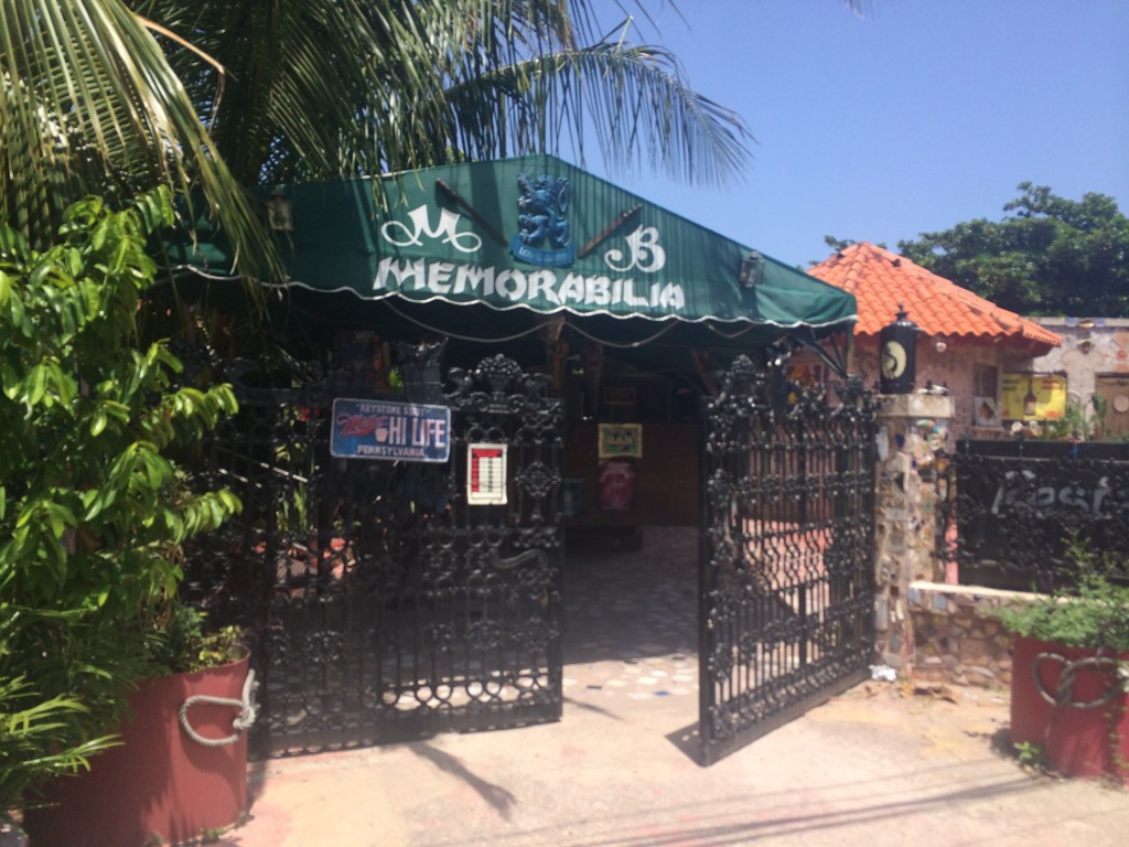 Entrance to Memorabilia Bar and Restaurant