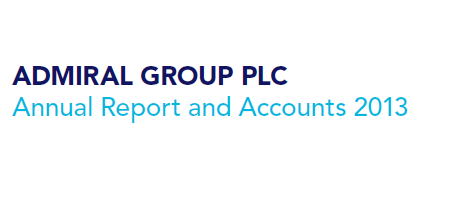 Text reading 'Admiral Group plc Annual Report 2013'