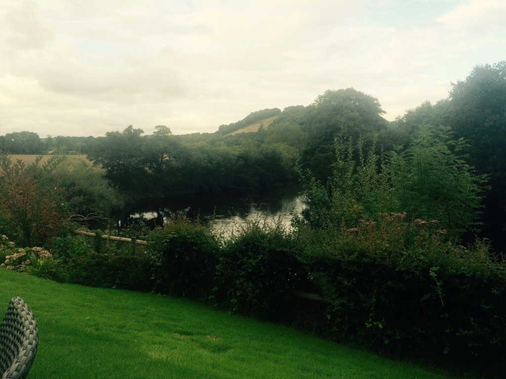Beautiful views over the River Usk