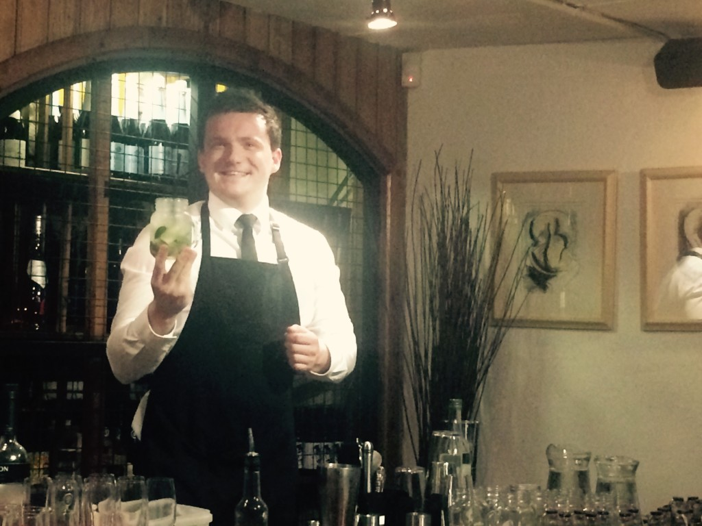Matt looks rather pleased with his mojito!