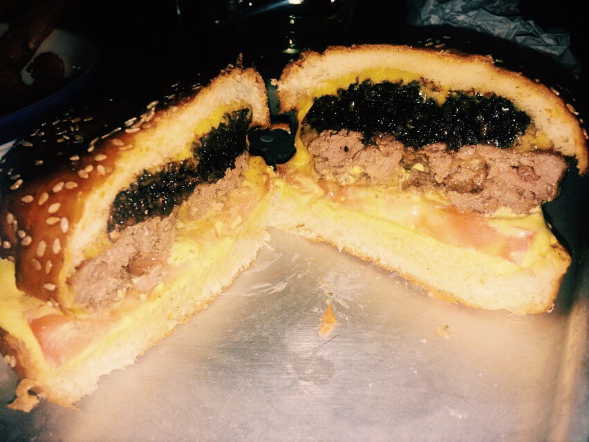 Black pudding burger