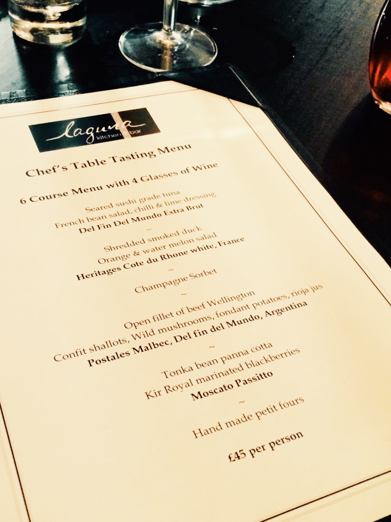 Laguna restaurant menu