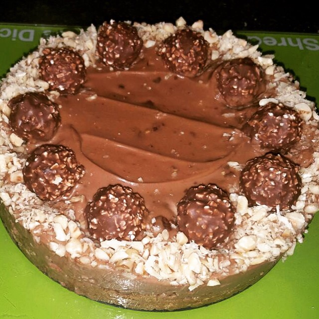 Celebrate National Chocolate Week with this Ferrero Rocher cheesecake (Recipe)