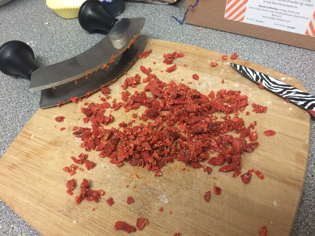 Chopped goji berries