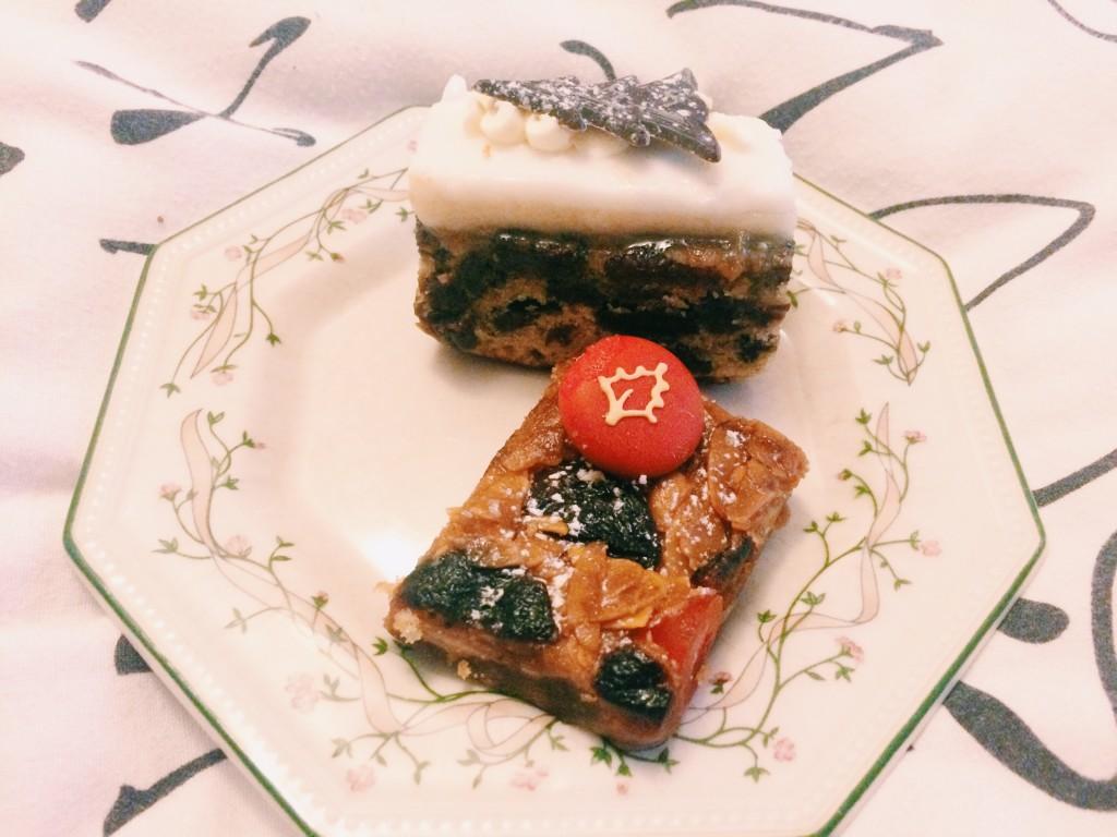 Festiva bara brith slice and a cherry nd apricot florentine