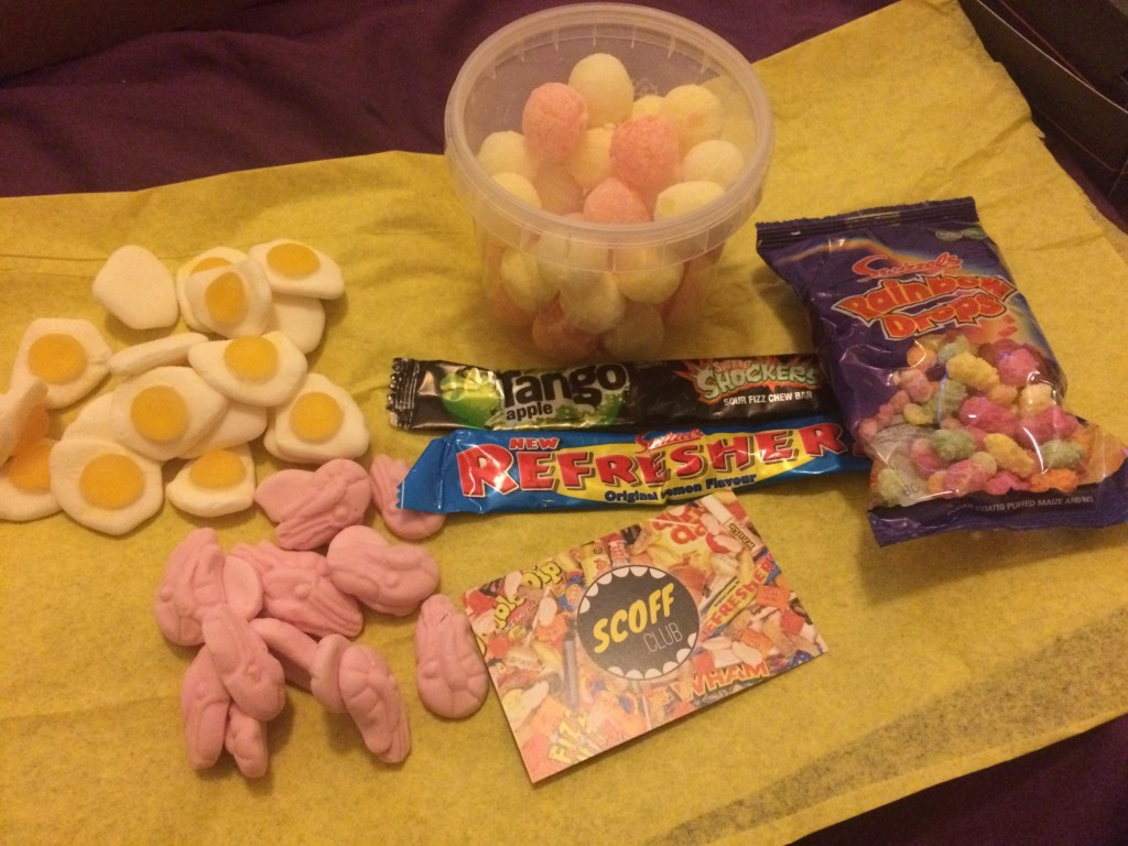 Selection of retro sweets