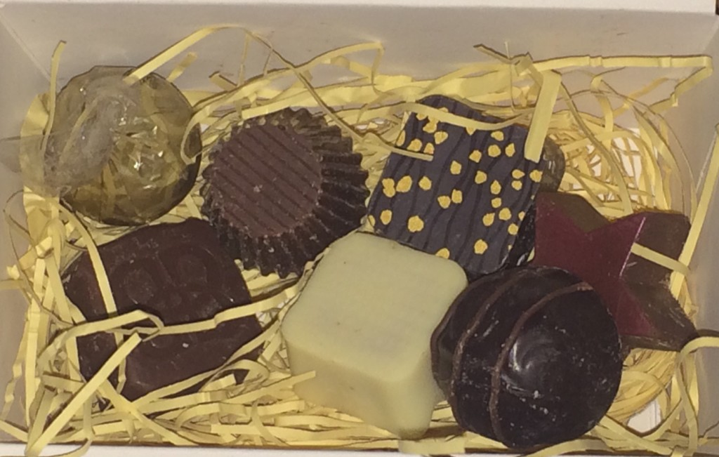 Bailey's Christmas chocolates (sample)