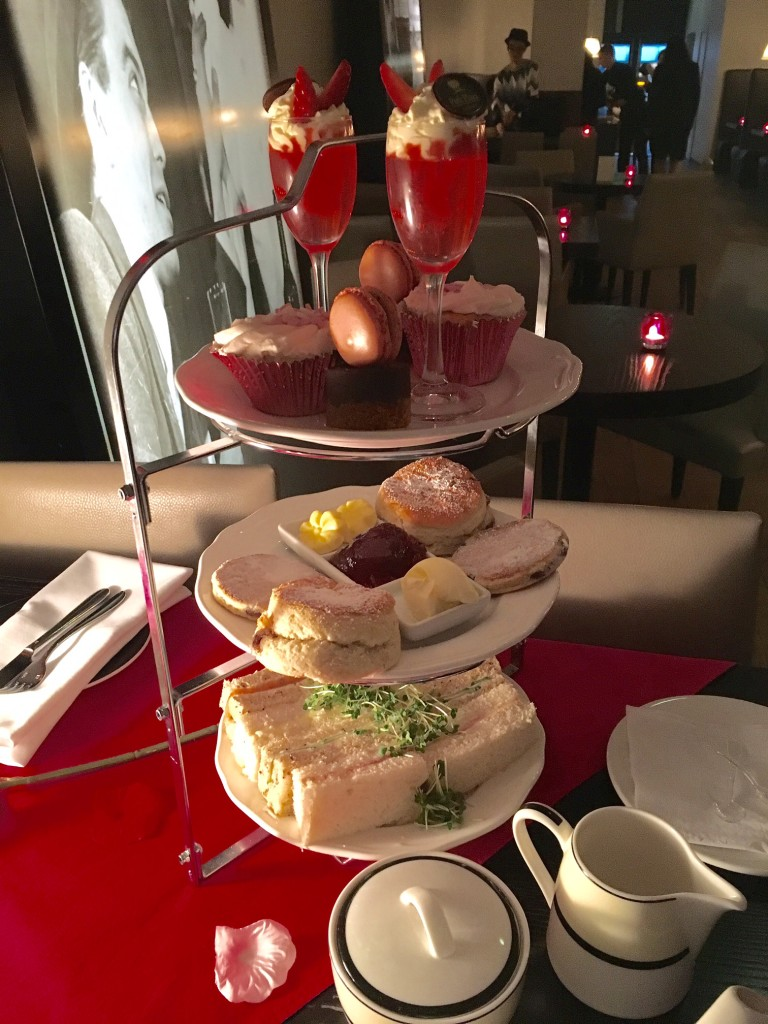 Valentines Day afternon tea - cakes, pastries, sandwiches