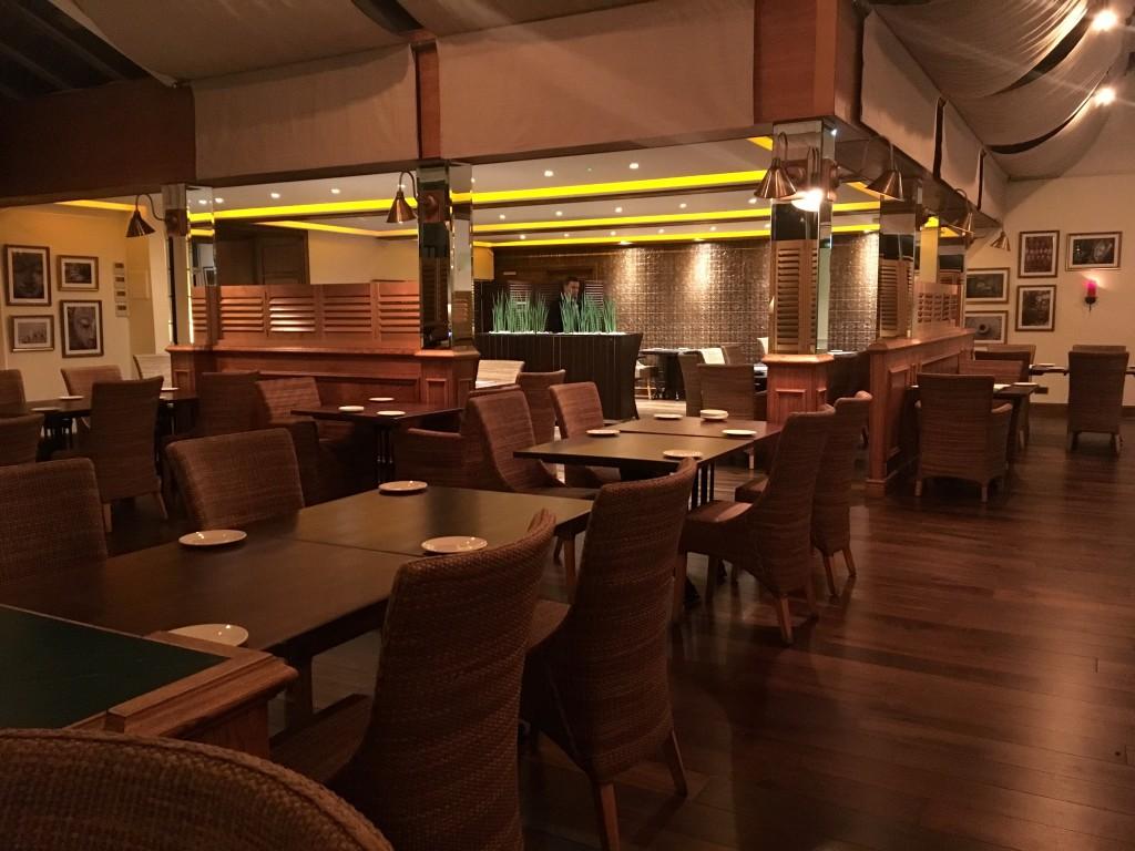 Inside Cen restaurant