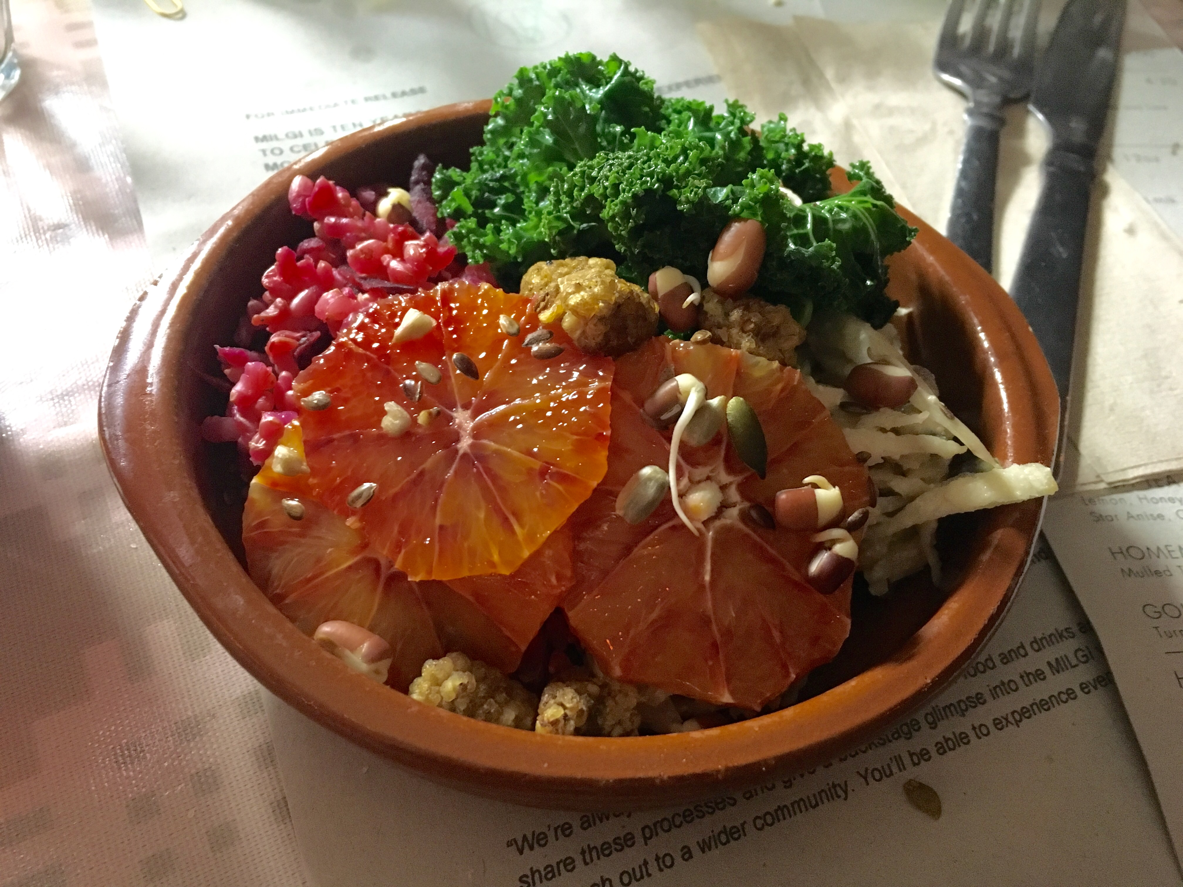 Wholefood bowl at Milgi