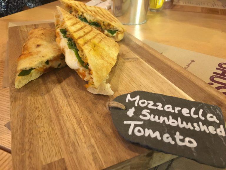 Mozzarella and sunblushed tomato melt