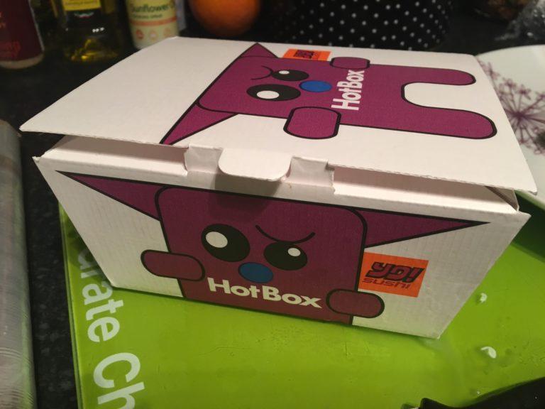 YO! Sushi takeaway box
