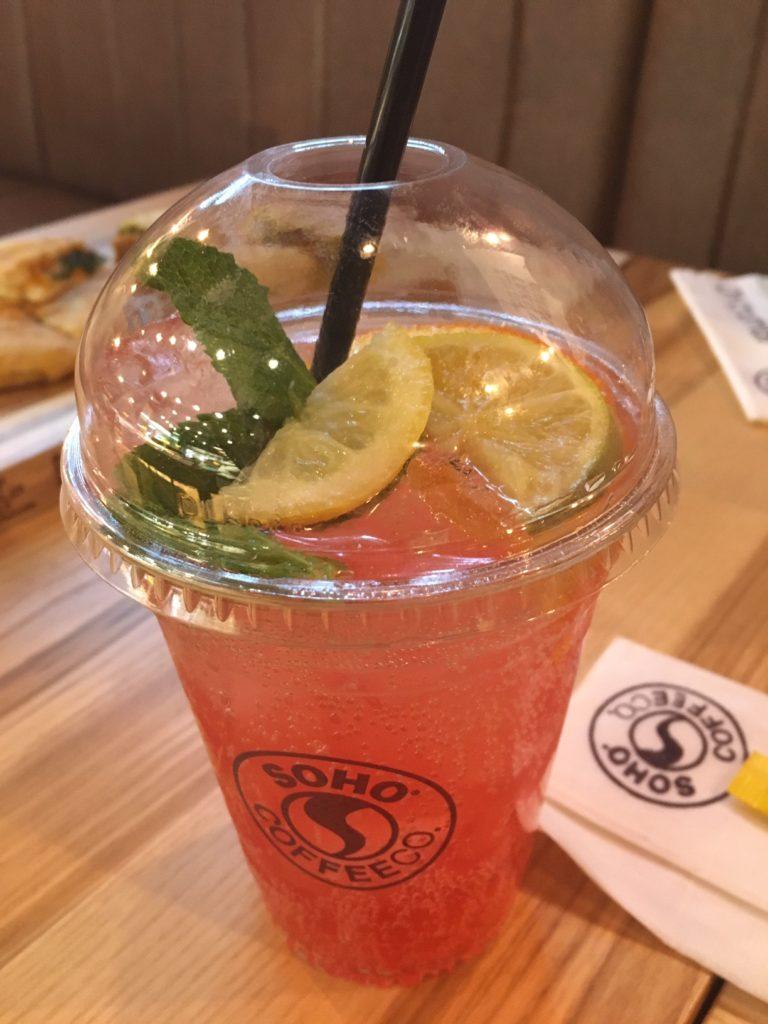 Raspberry and Lemon Fruit Sparkler