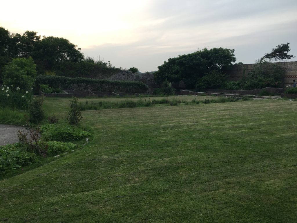 Historic walled gardens at Dunraven Bay