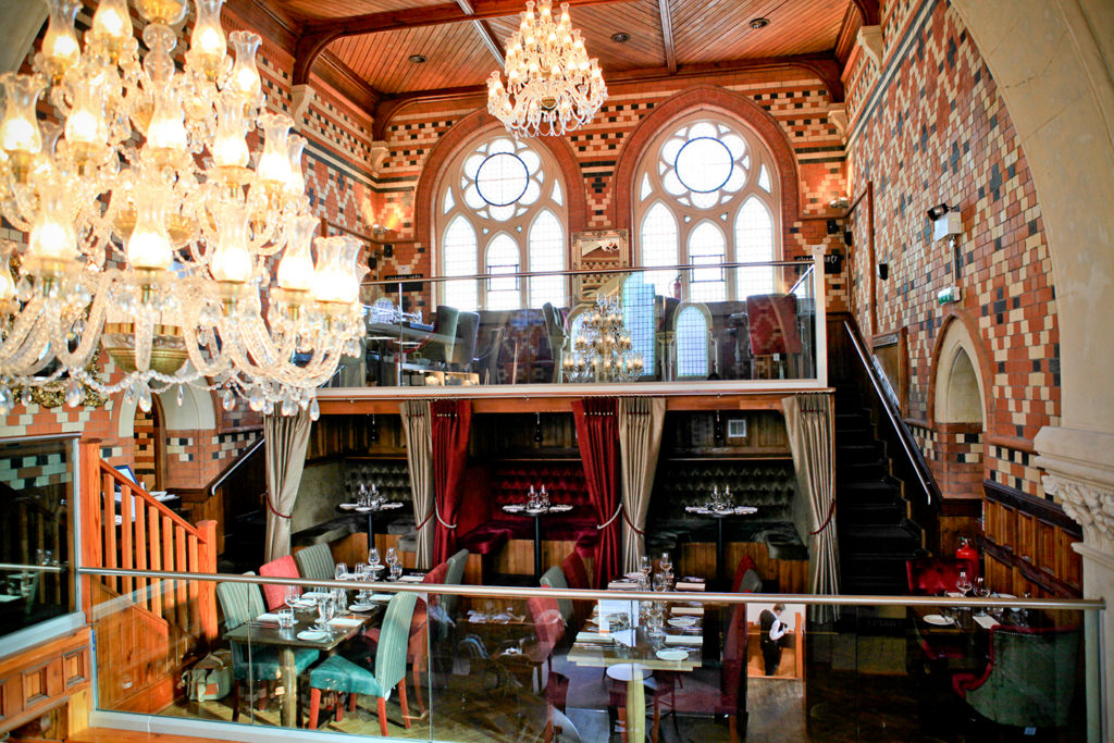 Dine out in a 19th century gothic chapel: Chapel 1877 – Churchill Way, Cardiff