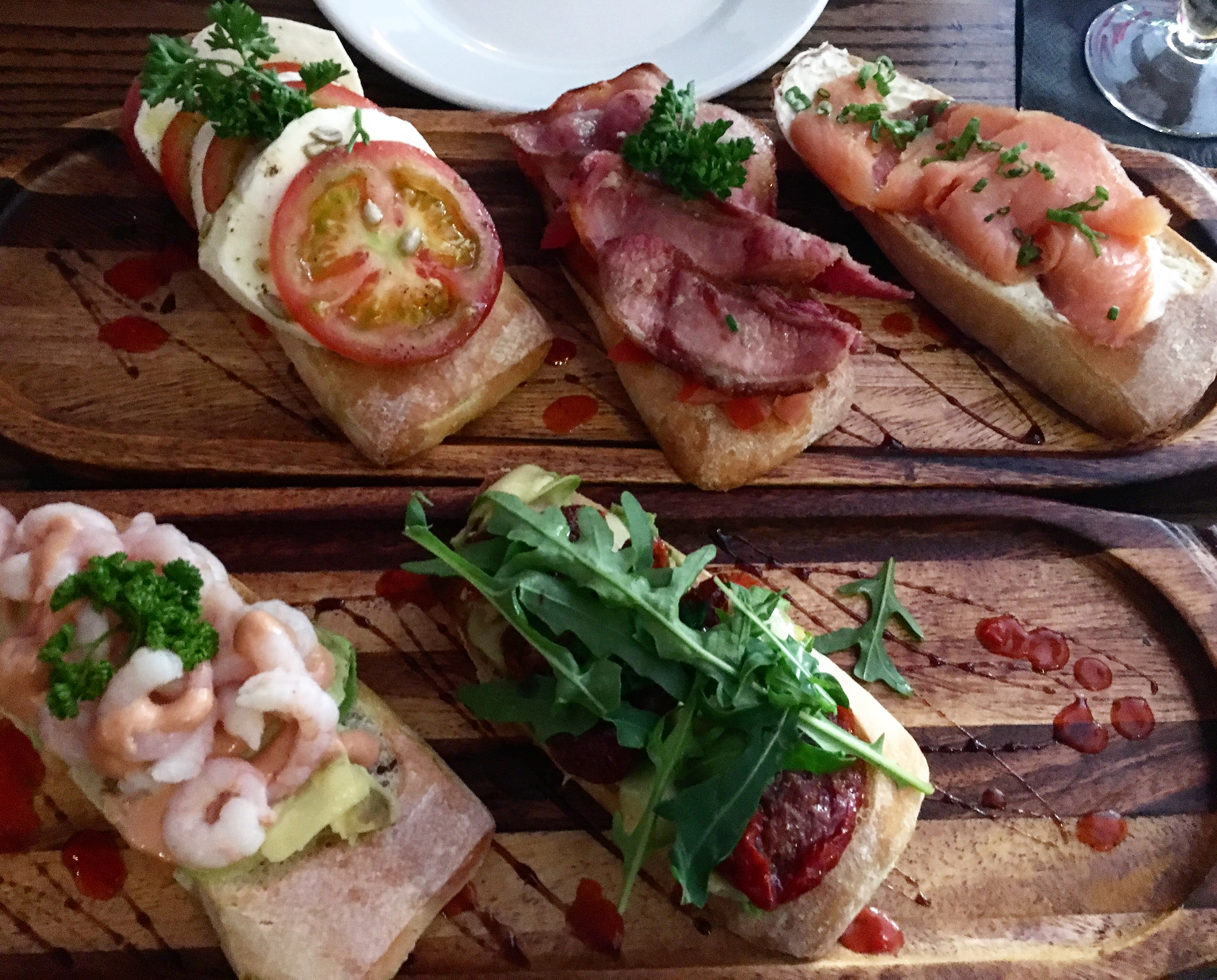 Assorted bruschetta at Mocka Lounge, Cardiff