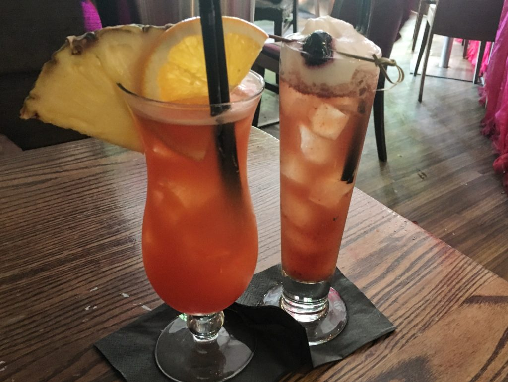 Vanilla and Rose Ricky and Mai Tai cocktails at Mocka Lounge, Cardiff