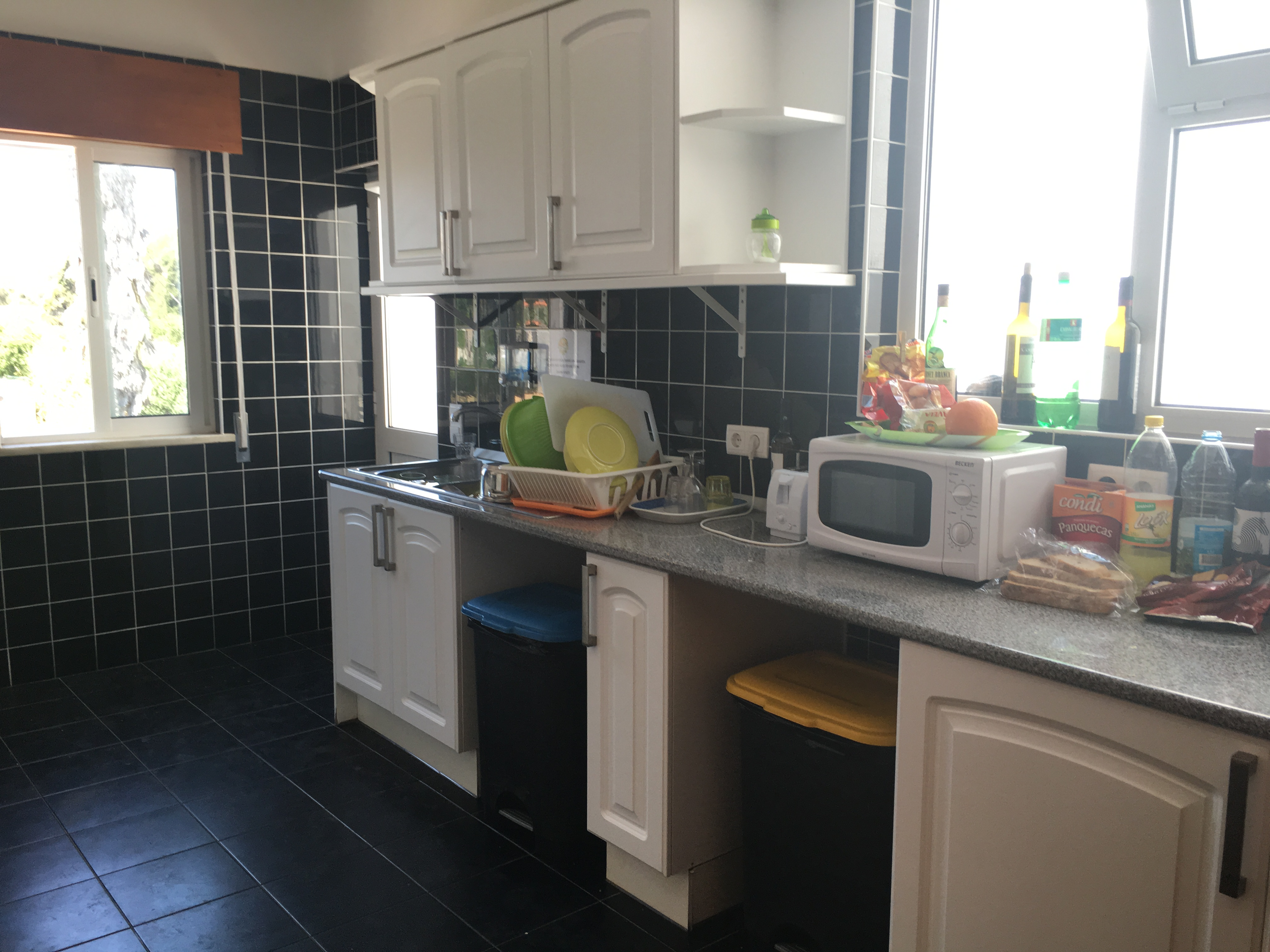 Kitchen at The Big Chill Hostel in lagos in the Algarve, Portugal