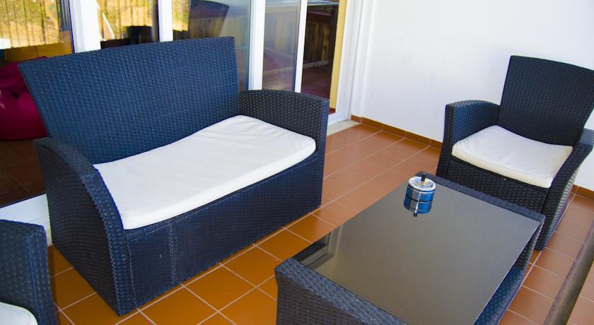 Balcony at The Big Chill Hostel