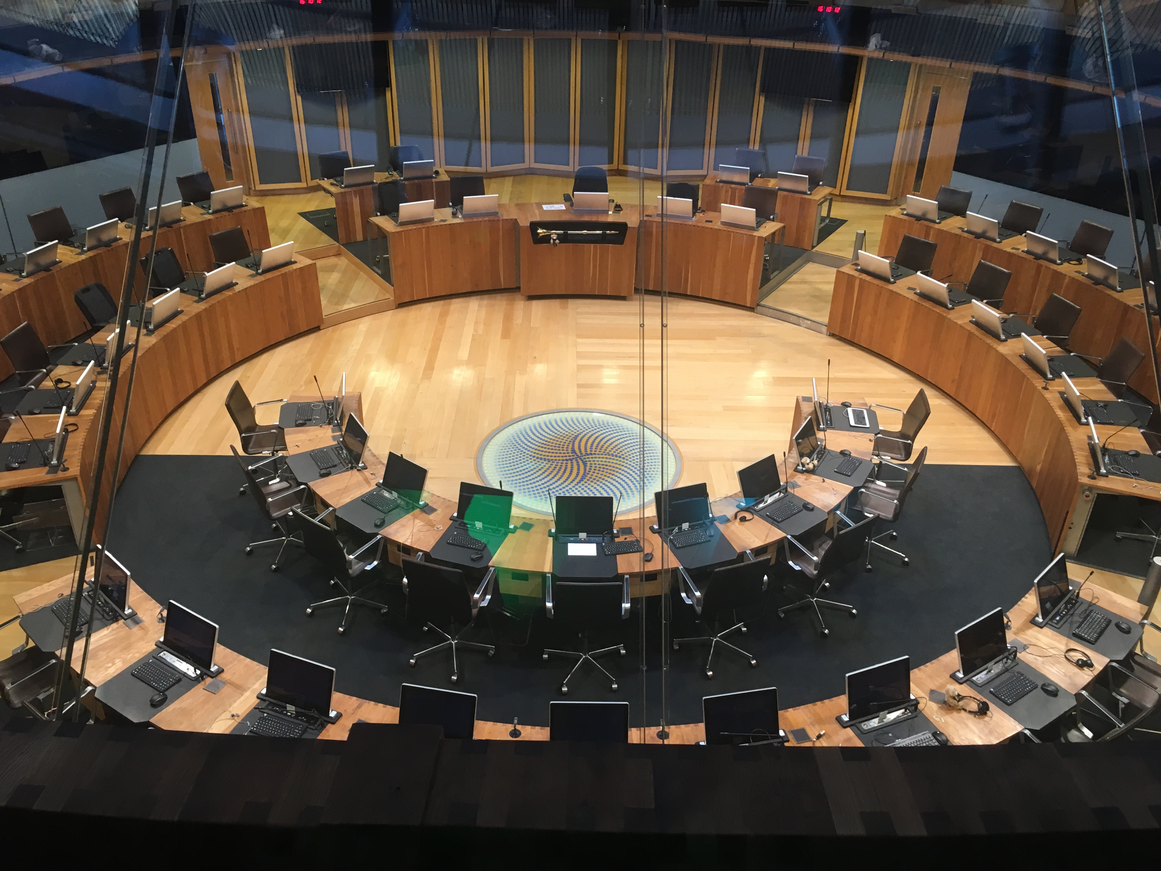 Siambr, debating chamber at the Senedd, National Assembly for Wales