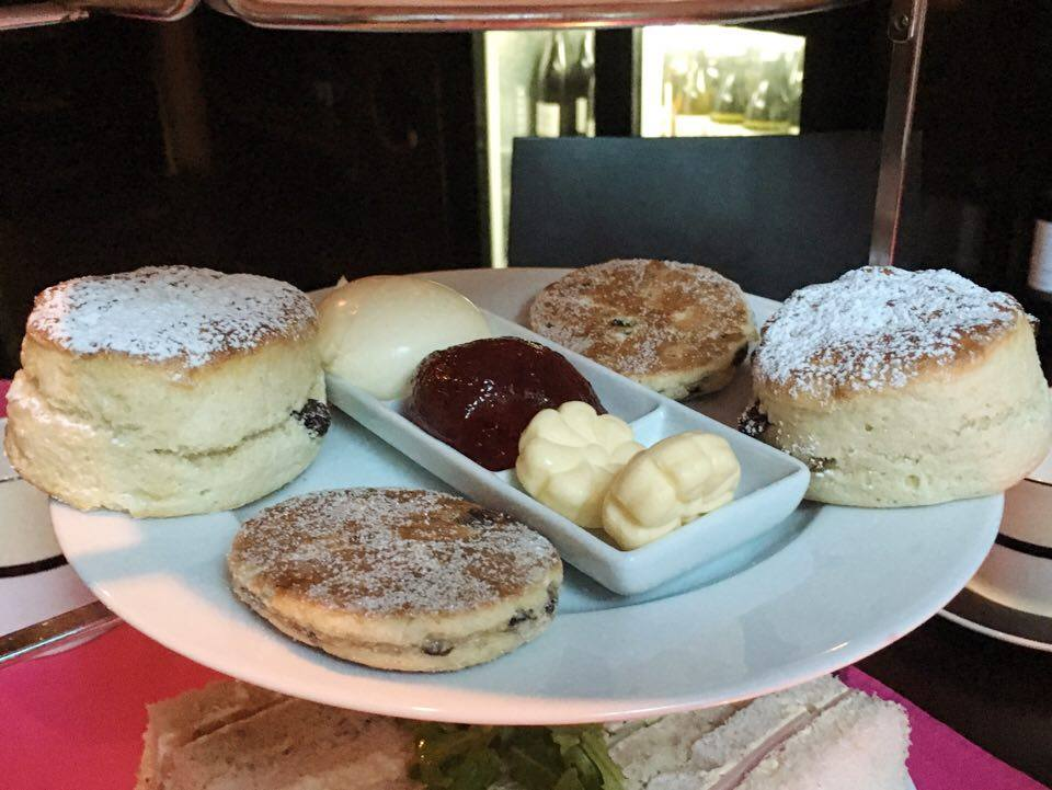Traditional scones, part of the afternoon tea at Park Plaza Hotel Cardiff