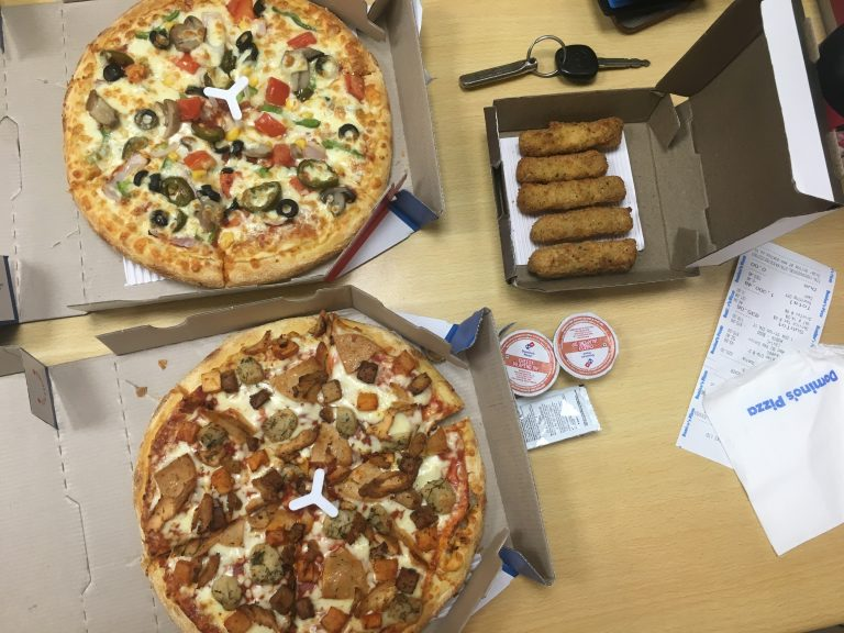 Dominoes Pizza selection
