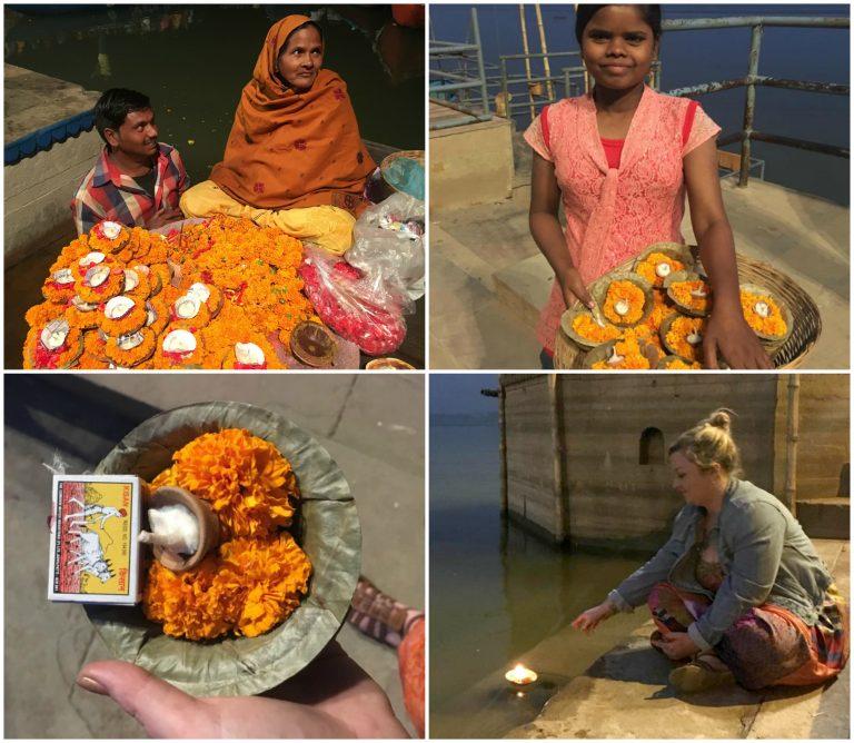 Sail a flower boat down River Ganges, Varanasi