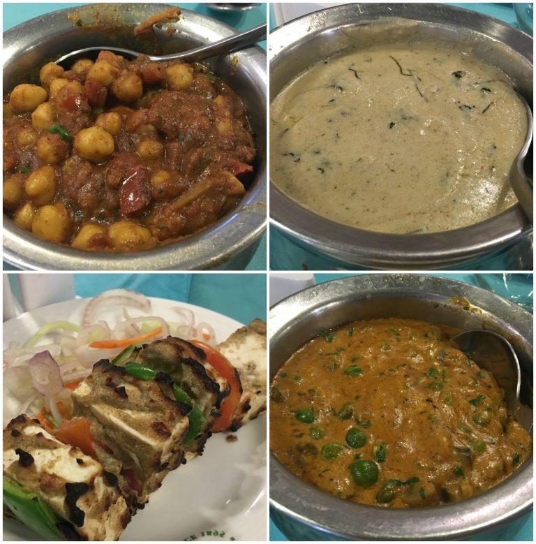 Selection of Indian dishes at Tipu Sultan restaurant at Tolly Gunge golf course, Kolkata