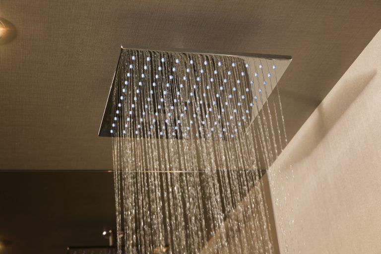 Monsoon shower at BLOC Hotel Gatwick