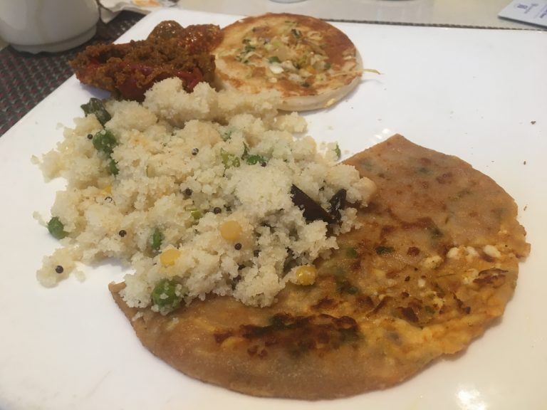 Indian breakfast at Jaypee Palace, Agra