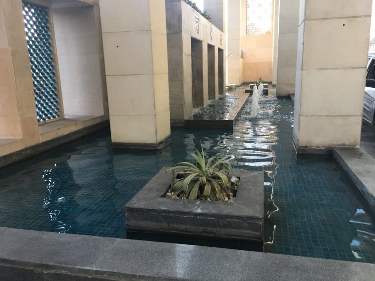 Fountains at entrance to Holiday Inn Jaipur hotel