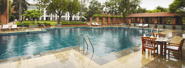 Swimming pool at Jaypee Palace, Agra