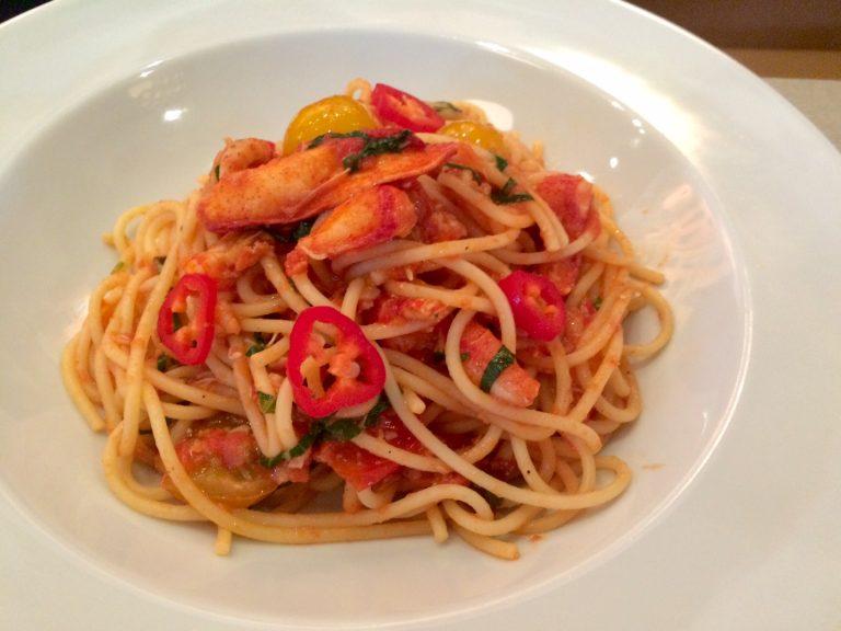 Lobster spaghetti at Carluccio's Cardiff