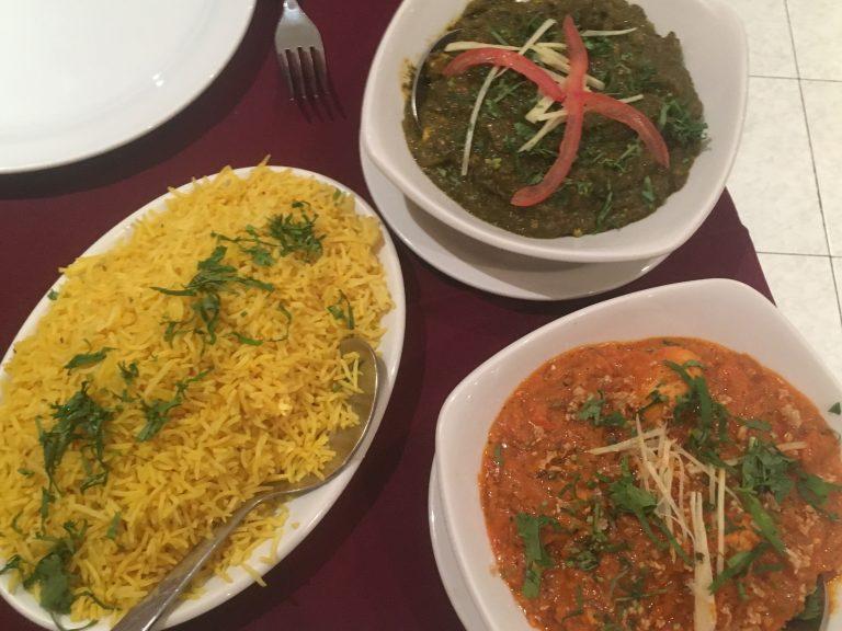 Pilau rice and curry at Delhi Darbar, Lagos, Algarve