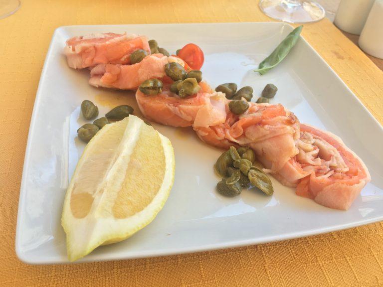 Salmon and swordfish
