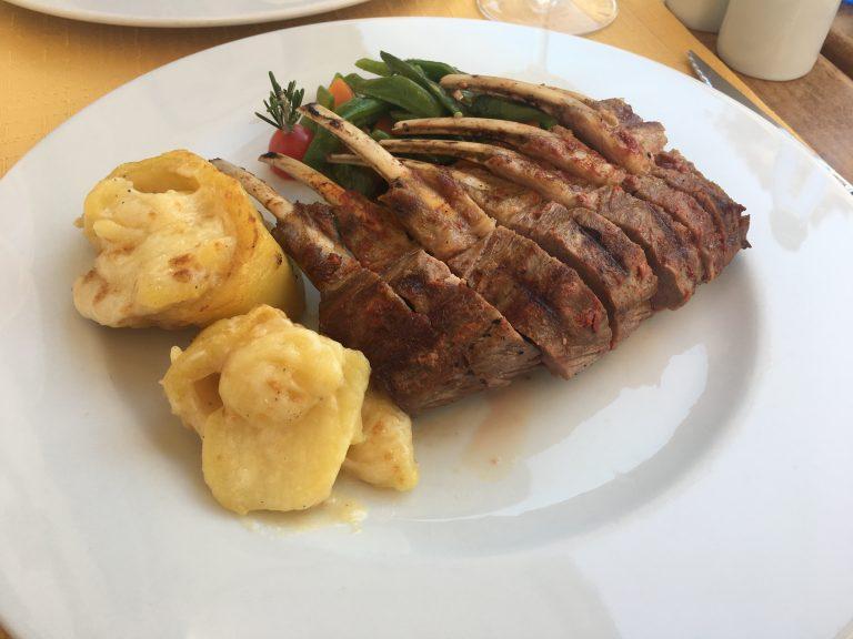 Rack of lamb with potatoes