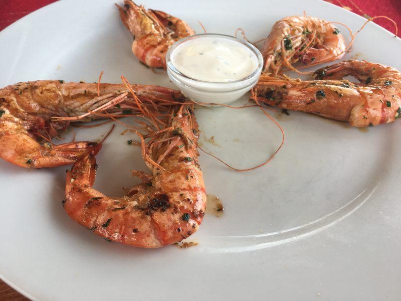 Garlic prawns, Morris restaurant, Sunny Beach
