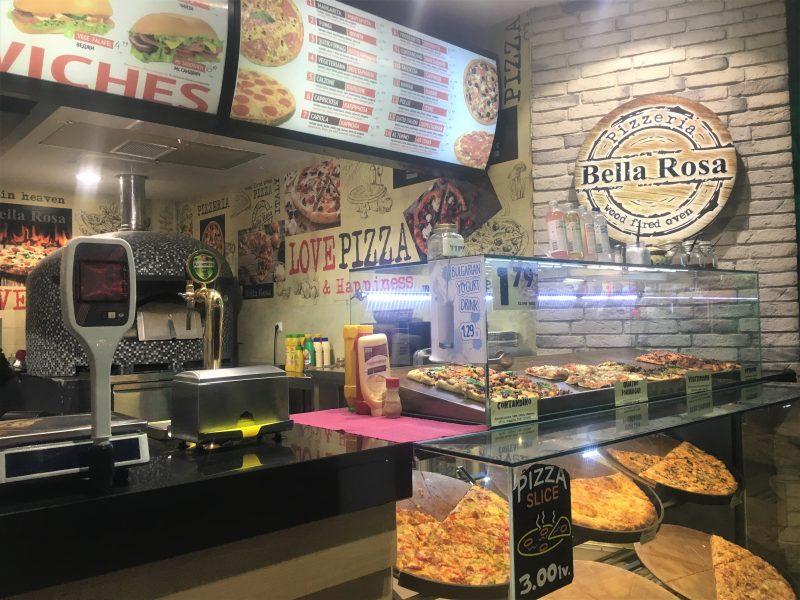 Bella Rosa pizzeria in Sunny Beach Bulgaria