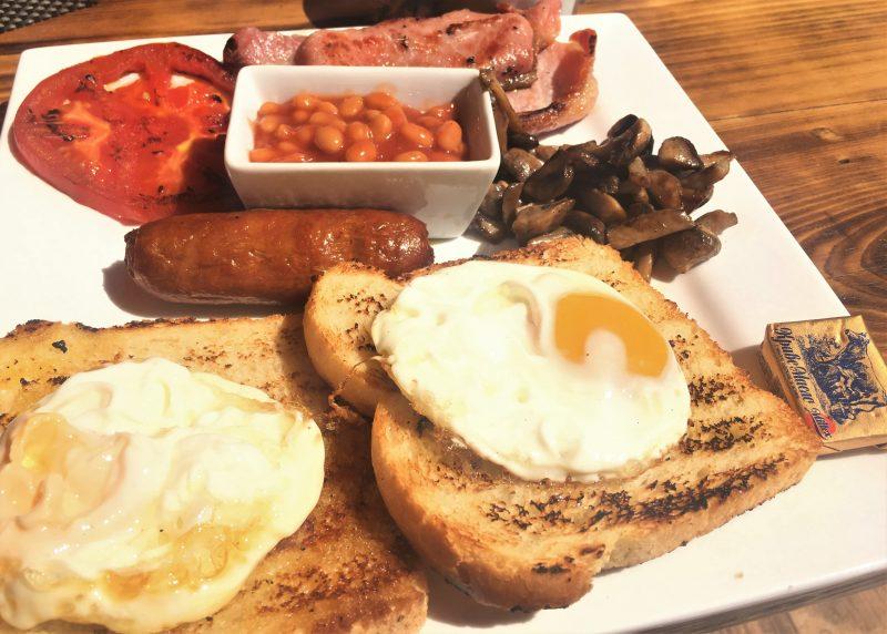 Full English breakfast at Jupiter Steakhouse in Sunny Beach, Bulgaria