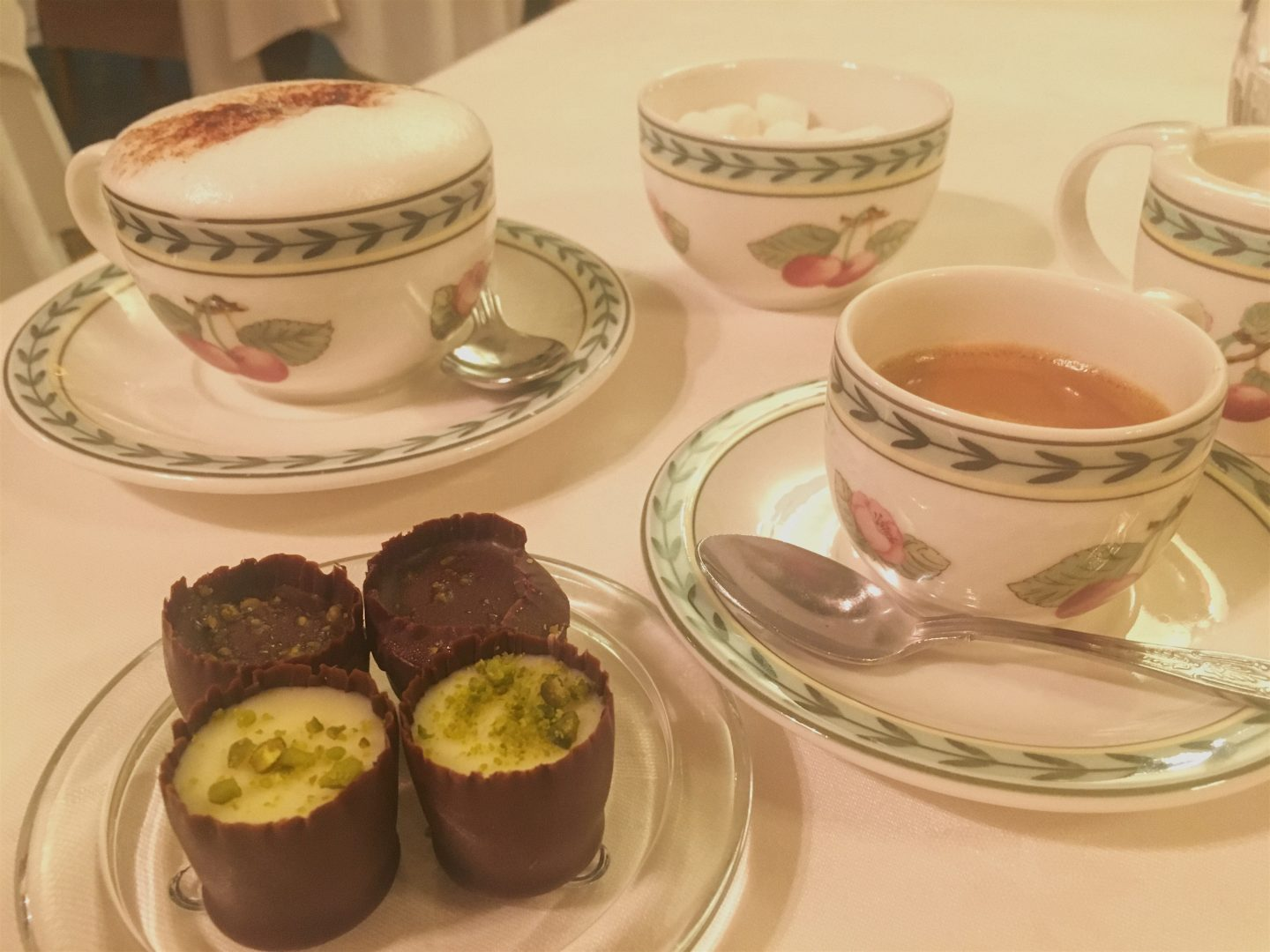 Petit fours at Gliffaes Country House Hotel