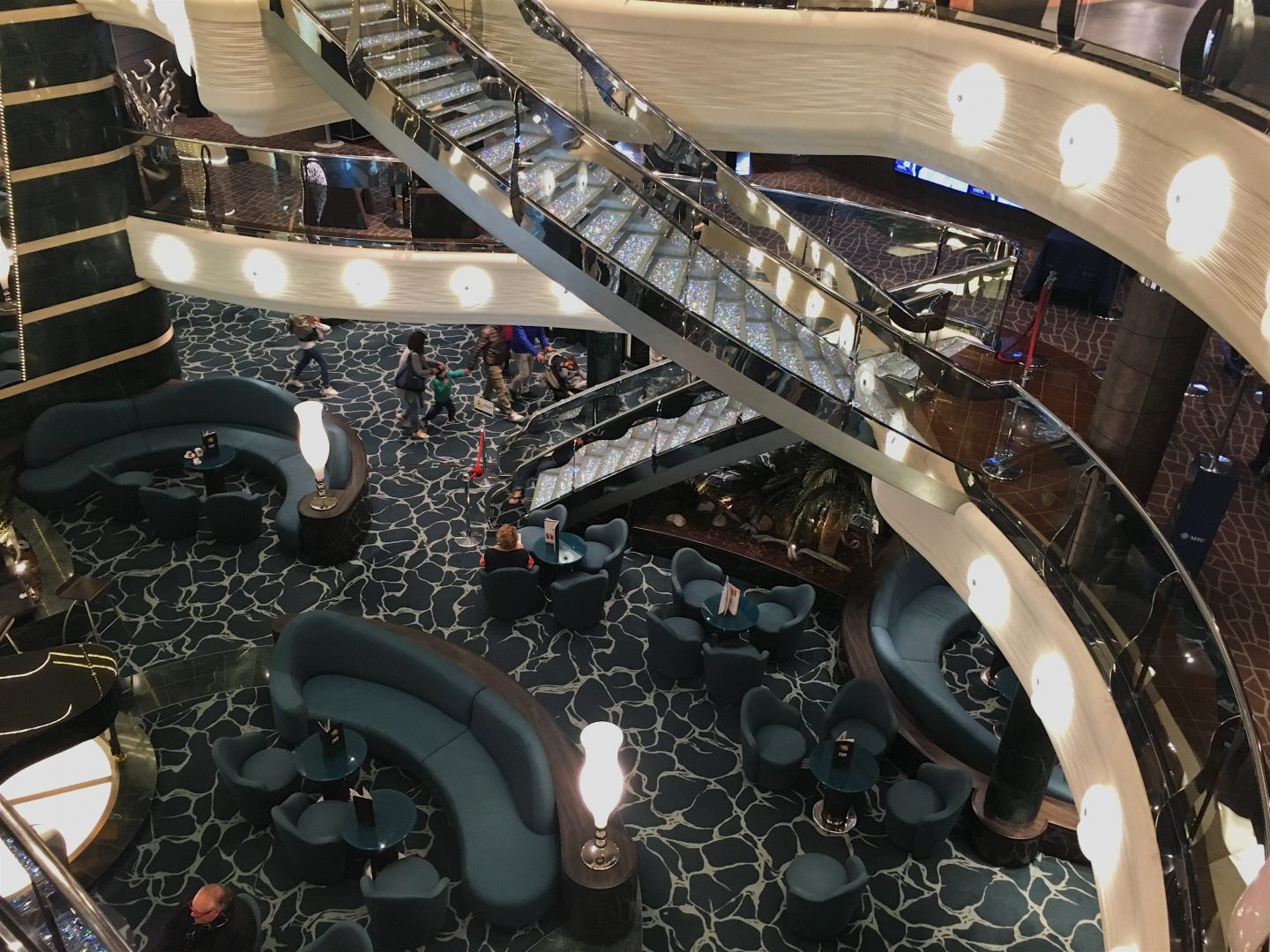 Atrium, MSC Preziosa cruise ship