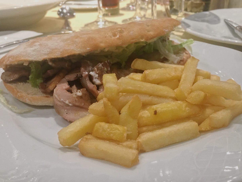 Roman porchetta sandwich