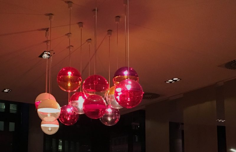 Funky lighting at Copper House, Hamburg (Best places to eat in Hamburg)