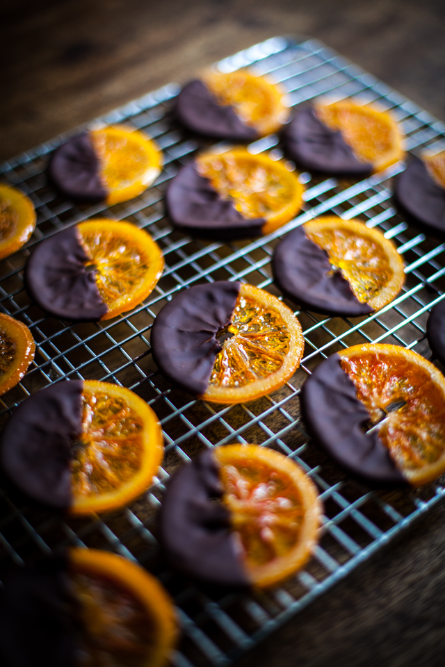 Candied chocolate oranges
