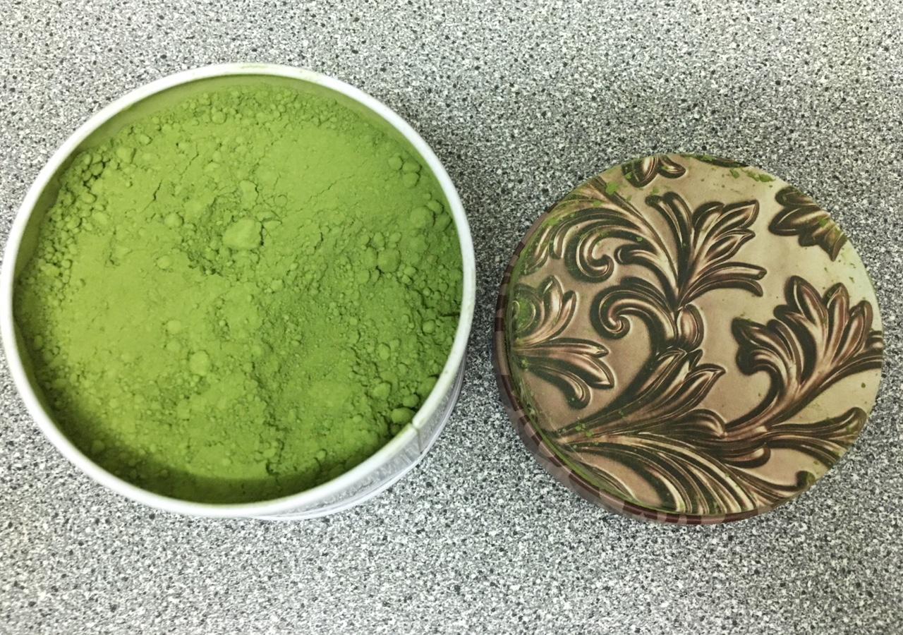 Green matcha tea powder from Adagio Teas