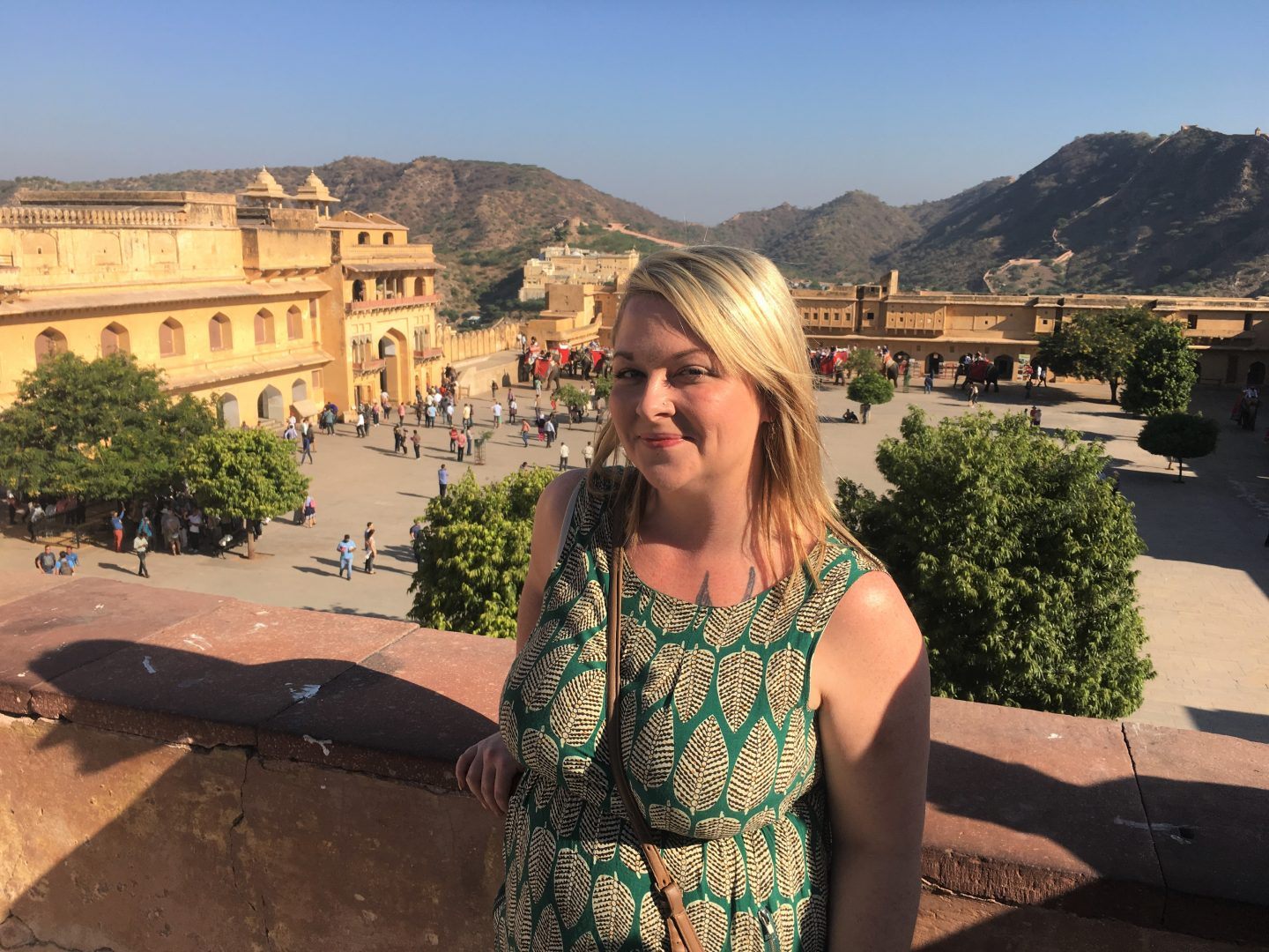 Me at Amber Fort, Jaipur on my visit to India last year