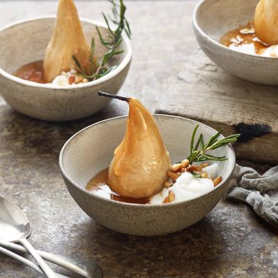Baked honey pears for Christmas (Healthy festive snacks)